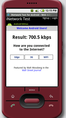 Inetwork-test-android-web-edition